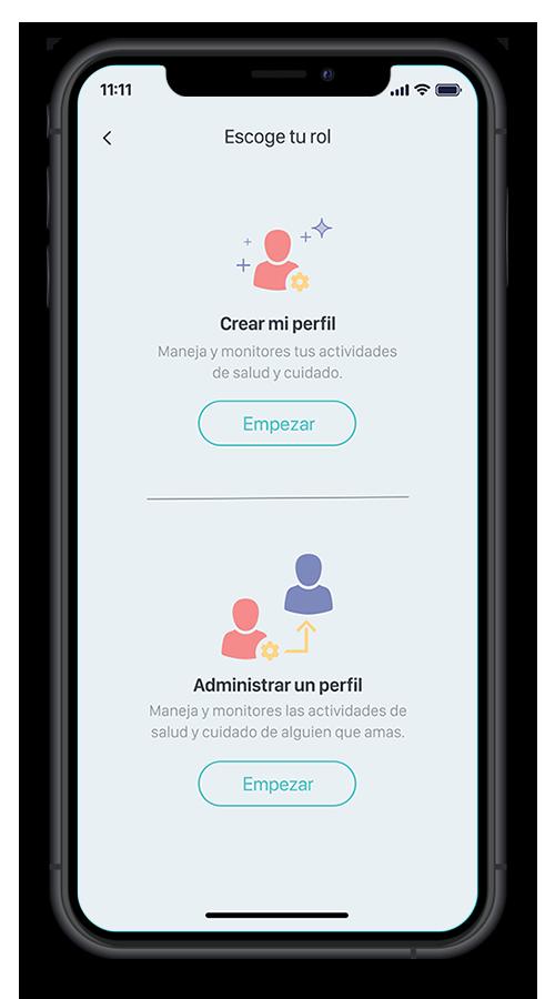 Gherry App Pantallas - Escoge tu rol